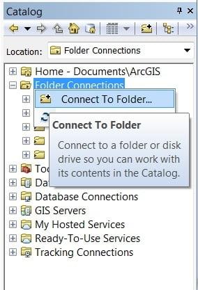 catalog connect folder
