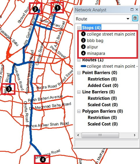best route network analysis in arcgis