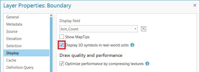 display 3d symbol
