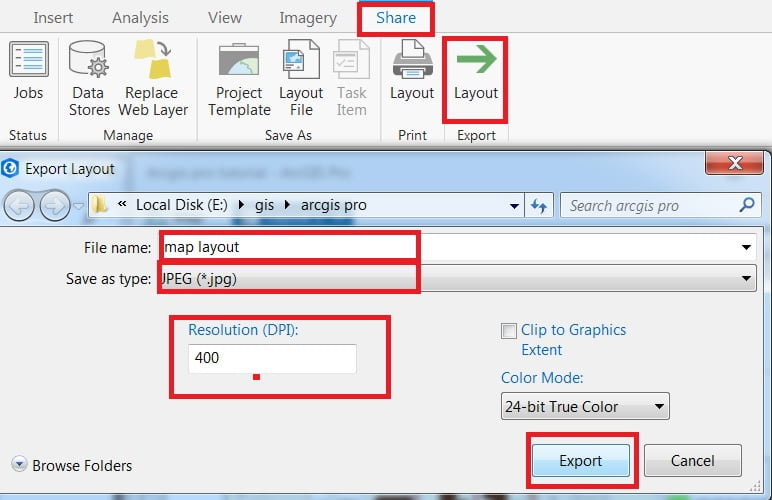 export layout inarcgis tutorial