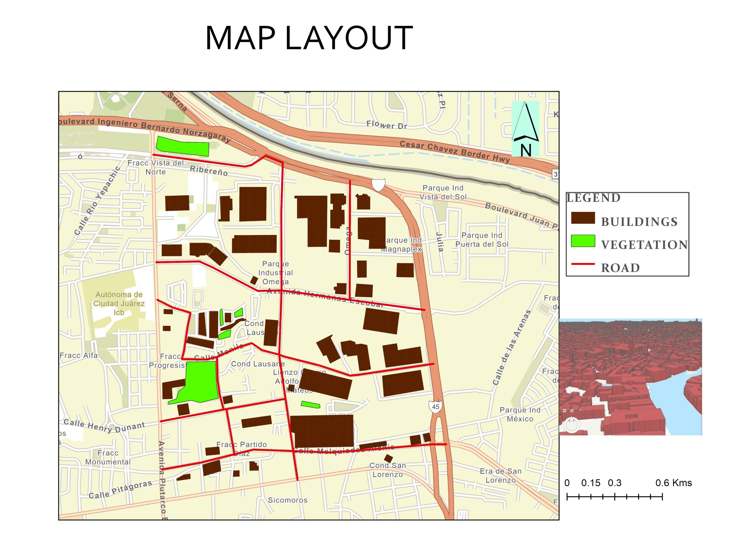 map layout in arcgis pro