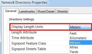 network analysis in arcgis direction properties