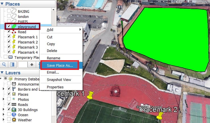 save place as google earth pro download