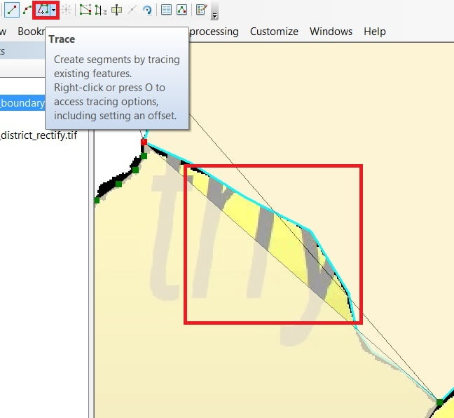 trace in arcgis tutorial