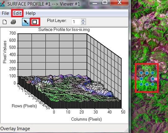 surface profile in erdas imagine