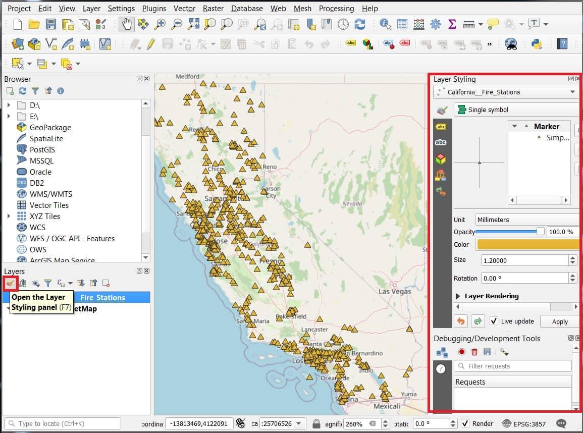layer properties for heatmap in qgis