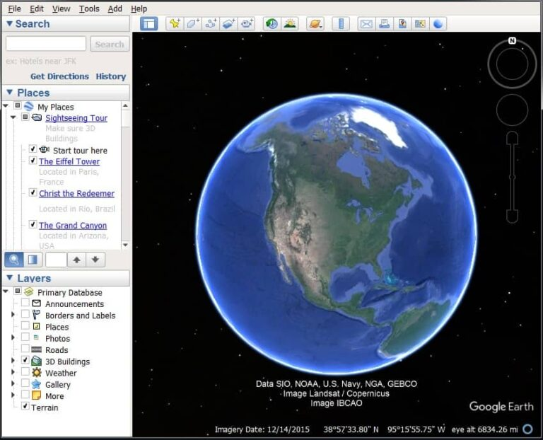 DEM from google earth