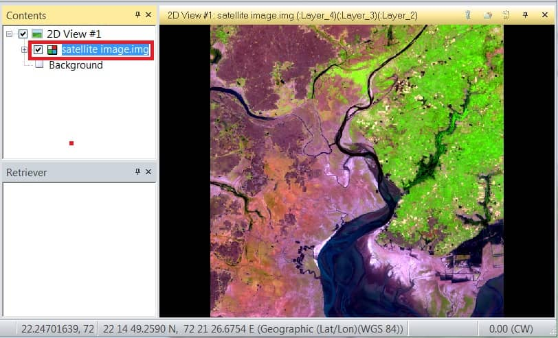 add satellite image to perform supervised classification