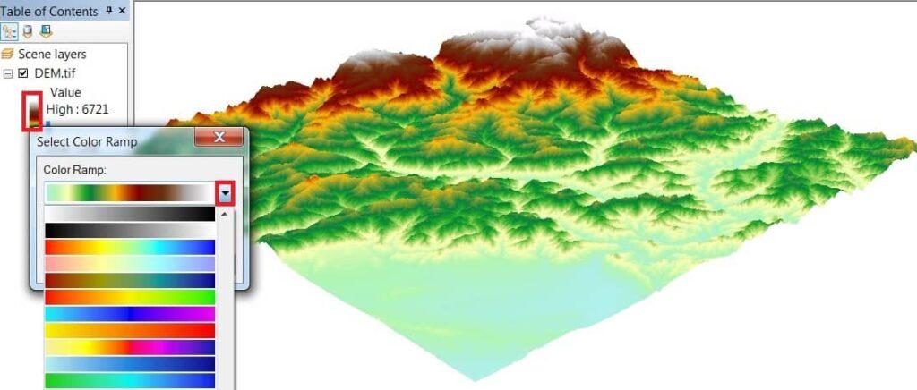 flood simulation model using dem map