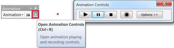 open animation controls