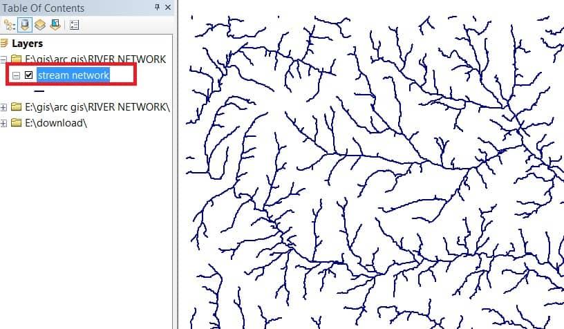 stream network result