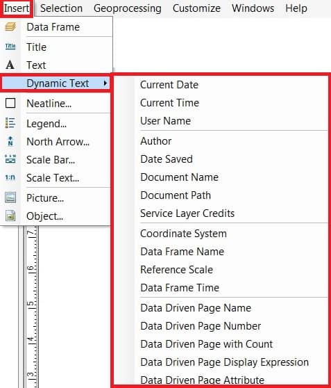 dynamic text layout view in arcgis