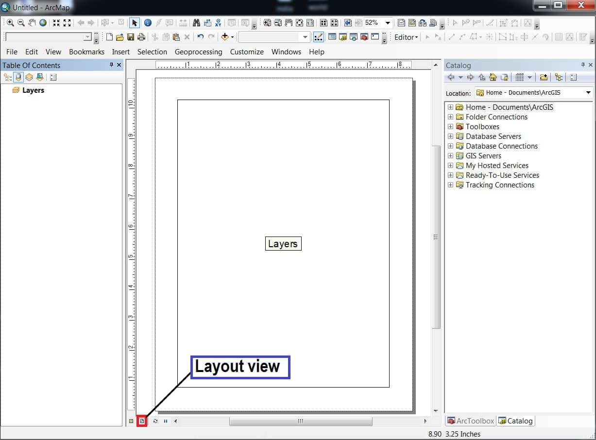 layout view arcgis