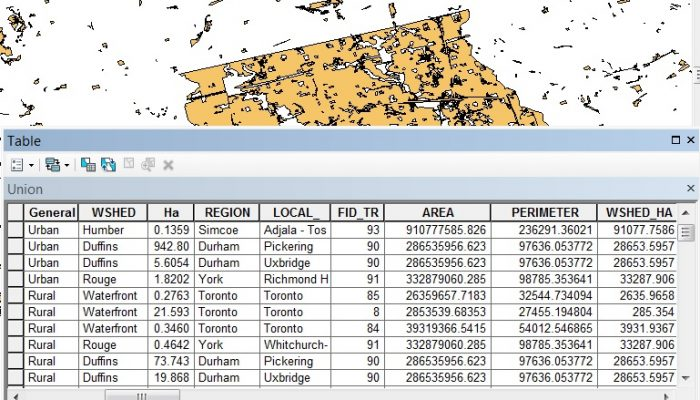 union geoprocessing tools in arcgis